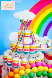 Girly Rainbow 5th Birthday Party with Lots of CUTE IDEAS via Kara's Party Ideas | Kara'sPartyIdeas.com #Colorful #Rainbow #Party #Ideas #Supplies #Girl (9)