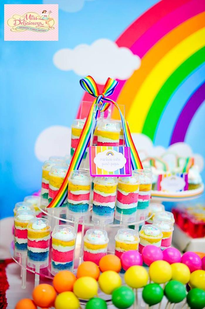 Kara S Party Ideas Girly Rainbow 5th Birthday Party With