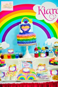 Girly Rainbow 5th Birthday Party with Lots of CUTE IDEAS via Kara's Party Ideas | Kara'sPartyIdeas.com #Colorful #Rainbow #Party #Ideas #Supplies #Girl (8)