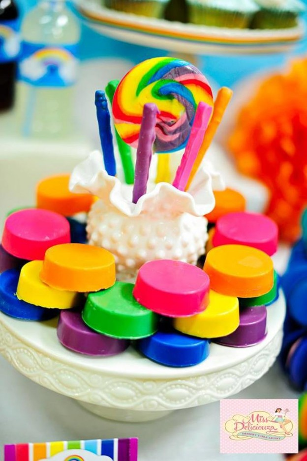 Girly Rainbow 5th Birthday Party with Lots of CUTE IDEAS via Kara's Party Ideas | Kara'sPartyIdeas.com #Colorful #Rainbow #Party #Ideas #Supplies #Girl (7)