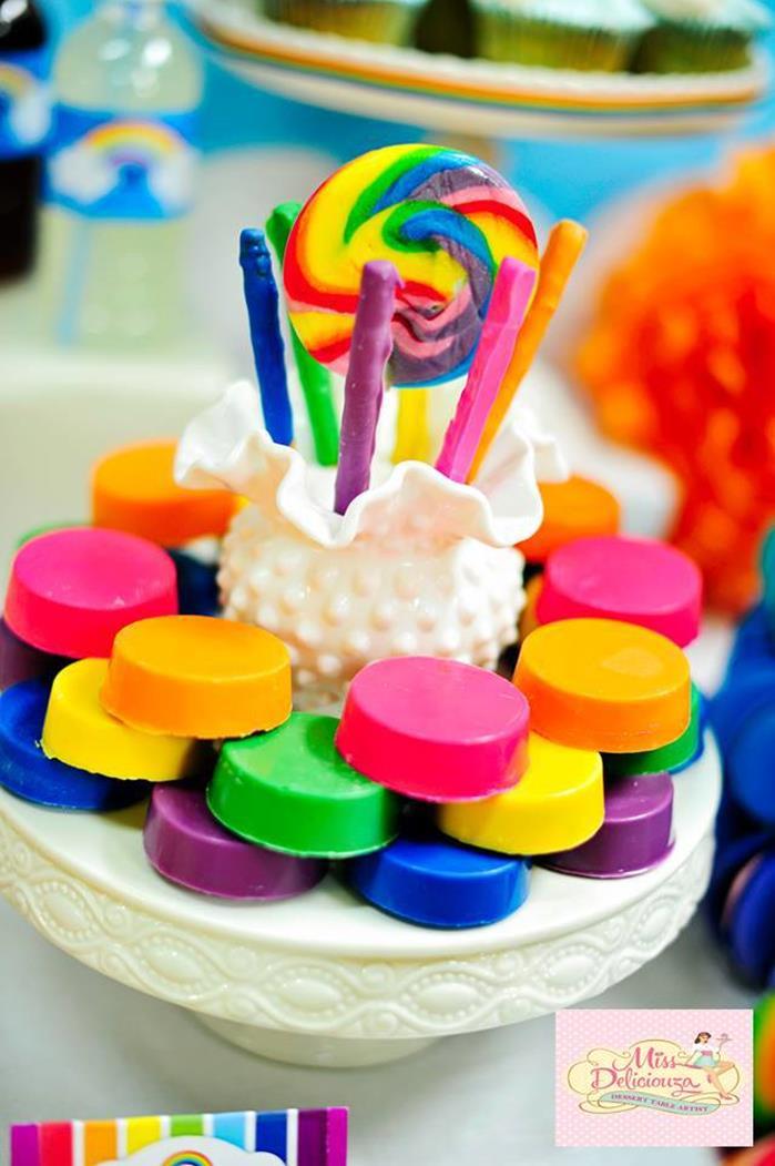 Kara's Party Ideas Girly Rainbow Birthday Party Planning ...