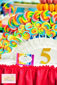Girly Rainbow 5th Birthday Party with Lots of CUTE IDEAS via Kara's Party Ideas | Kara'sPartyIdeas.com #Colorful #Rainbow #Party #Ideas #Supplies #Girl (5)