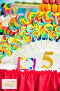 Girly Rainbow 5th Birthday Party with Lots of CUTE IDEAS via Kara's Party Ideas | Kara'sPartyIdeas.com #Colorful #Rainbow #Party #Ideas #Supplies #Girl (5)