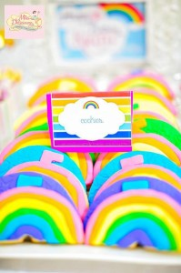 Girly Rainbow 5th Birthday Party with Lots of CUTE IDEAS via Kara's Party Ideas | Kara'sPartyIdeas.com #Colorful #Rainbow #Party #Ideas #Supplies #Girl (2)