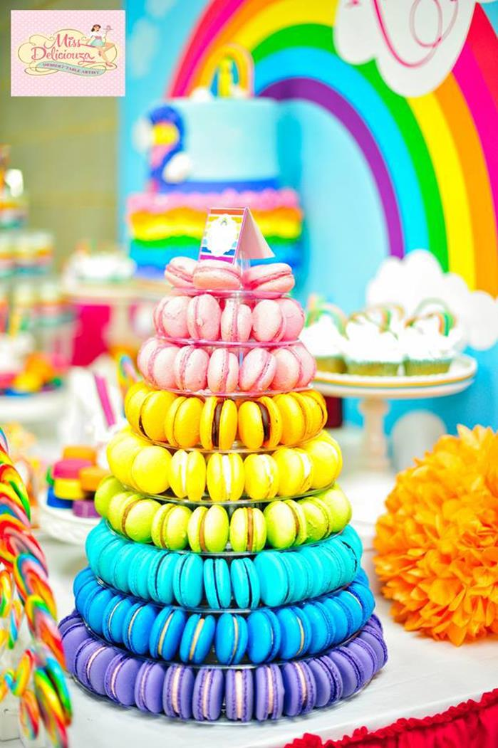 Kara S Party Ideas Girly Rainbow 5th Birthday Party With