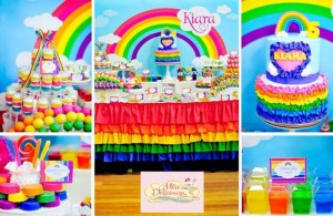 Girly Rainbow 5th Birthday Party with Lots of CUTE IDEAS via Kara's Party Ideas | Kara'sPartyIdeas.com #Colorful #Rainbow #Party #Ideas #Supplies #Girl (17)