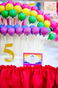 Girly Rainbow 5th Birthday Party with Lots of CUTE IDEAS via Kara's Party Ideas | Kara'sPartyIdeas.com #Colorful #Rainbow #Party #Ideas #Supplies #Girl (16)