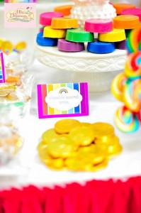 Girly Rainbow 5th Birthday Party with Lots of CUTE IDEAS via Kara's Party Ideas | Kara'sPartyIdeas.com #Colorful #Rainbow #Party #Ideas #Supplies #Girl (12)