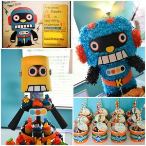 Robot Themed Birthday Party with Lots of Fun Ideas via Kara's Party Ideas | KarasPartyIdeas.com #Robots #Party #Ideas #Supplies (1)