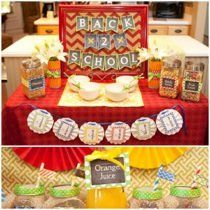 Back to School Breakfast with SUCH CUTE IDEAS via Kara's Party Ideas | KarasPartyIdeas.com #FirstDayofSchool #Party #Ideas #Supplies (1)