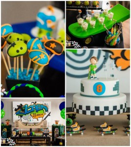 Skater+Skate Park Party Full of Fabulous Ideas via Kara's Party Ideas | KarasPartyIdeas.com #Skateboard #Party #Ideas #Supplies (1)
