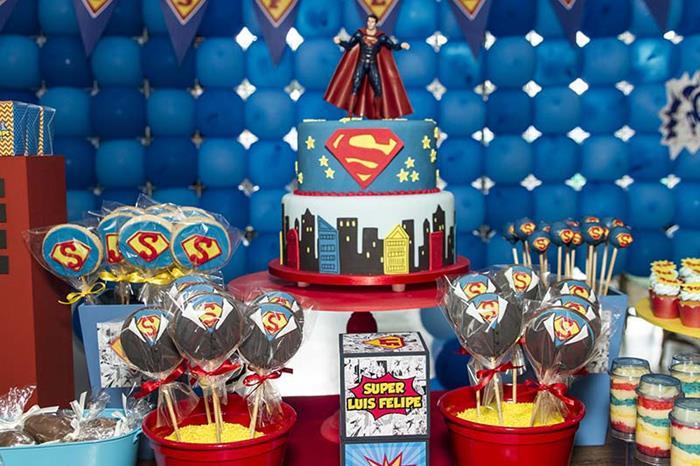 Karas Party Ideas Superman Themed Birthday Party with So Many