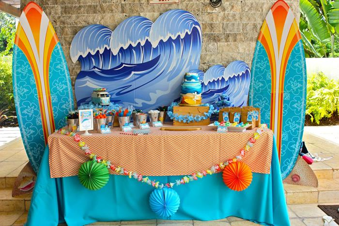 Kara S Party Ideas Surf Shack Party With Lots Of Awesome