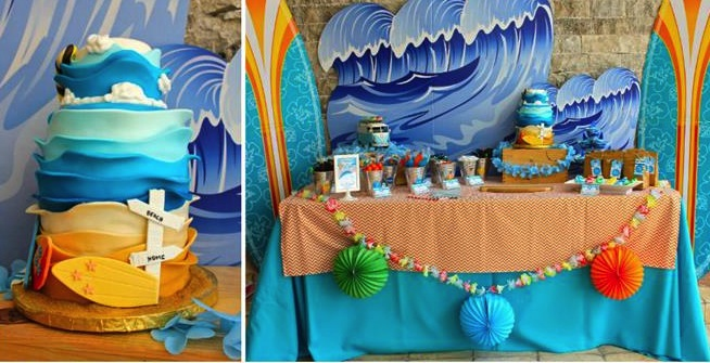 5 Ideas For A Great Beach Themed Wedding In Puglia: Kara's Party Ideas Surf Shack Birthday Party Planning