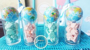 Travel Themed 1st Birthday Party with Lots of REALLY CUTE IDEAS via Kara's Party Ideas | KarasPartyIdeas.com #JoyToTheWorld #Traveling #Party #Ideas #Supplies (9)