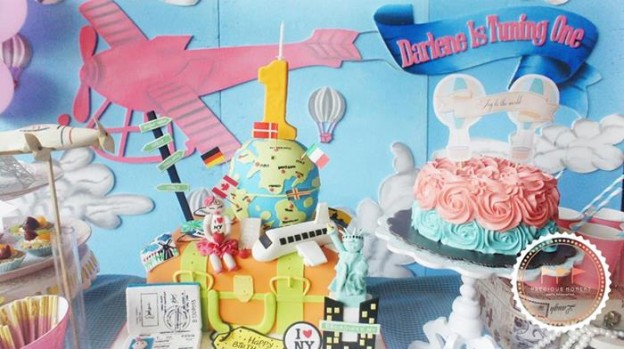 Travel Themed 1st Birthday Party with Lots of REALLY CUTE IDEAS via Kara's Party Ideas | KarasPartyIdeas.com #JoyToTheWorld #Traveling #Party #Ideas #Supplies (3)