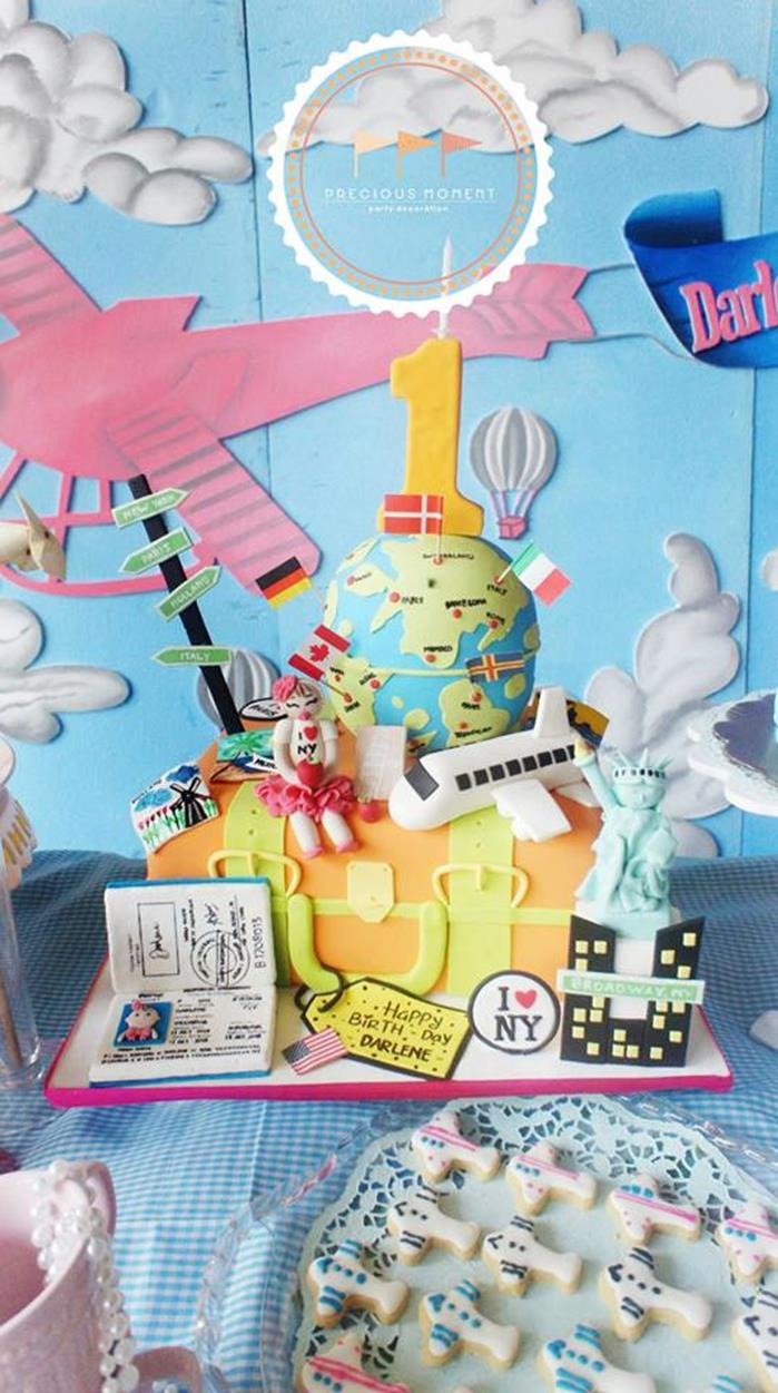 Kara 39 s party ideas travel themed 1st birthday party with for Around the world party decoration ideas