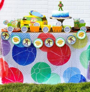 Retro Surfing Ninja Turtle Themed End of Summer Party with Totally Awesome IDEAS via Kara's Party Ideas | KarasPartyIdeas.com #TMNT #Cowabunga #NijaTurtles #PizzaParty #Party #Ideas #Supplies (90)