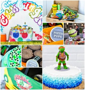Retro Surfing Ninja Turtle Themed End of Summer Party with Totally Awesome IDEAS via Kara's Party Ideas | KarasPartyIdeas.com #TMNT #Cowabunga #NijaTurtles #PizzaParty #Party #Ideas #Supplies (1)