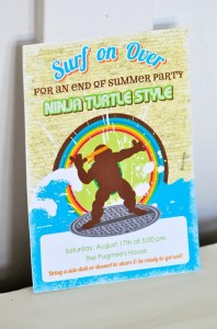 Retro Surfing Ninja Turtle Themed End of Summer Party with Totally Awesome IDEAS via Kara's Party Ideas | KarasPartyIdeas.com #TMNT #Cowabunga #NijaTurtles #PizzaParty #Party #Ideas #Supplies (2)