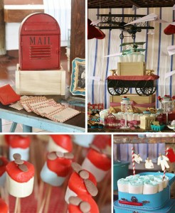 Vintage Airplane Baby Shower Full of Really Cute Ideas via Kara's Party Ideas | KarasPartyIdeas.com #Airplane #Aviator #Party #Ideas #Supplies (1)