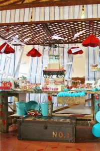Vintage Airplane Baby Shower Full of Really Cute Ideas via Kara's Party Ideas | KarasPartyIdeas.com #Airplane #Aviator #Party #Ideas #Supplies (11)