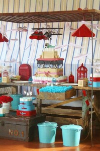 Vintage Airplane Baby Shower Full of Really Cute Ideas via Kara's Party Ideas | KarasPartyIdeas.com #Airplane #Aviator #Party #Ideas #Supplies (9)