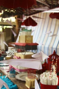 Vintage Airplane Baby Shower Full of Really Cute Ideas via Kara's Party Ideas | KarasPartyIdeas.com #Airplane #Aviator #Party #Ideas #Supplies (6)