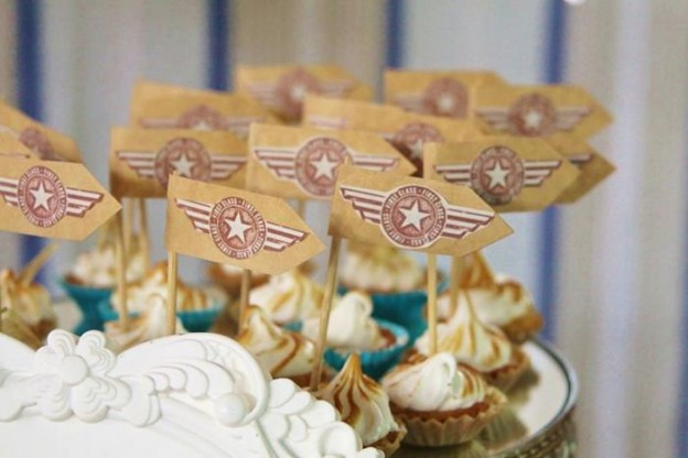 Vintage Airplane Baby Shower Full of Really Cute Ideas via Kara's Party Ideas | KarasPartyIdeas.com #Airplane #Aviator #Party #Ideas #Supplies (38)