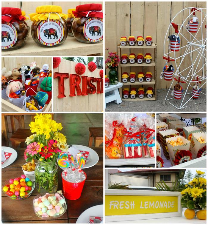 Kara 39 s party ideas vintage carnival party with lots of cute ideas via kara 39 s party ideas - Carnival theme party supplies ...
