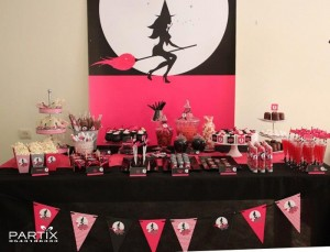 Witch Themed 9th Birthday Party with So Many Darling Ideas via Kara's Party Ideas | KarasPartyIdeas.com #WitchesNightOut #Halloween #Party #Ideas #Supplies (29)