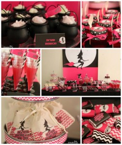Witch Themed 9th Birthday Party with So Many Darling Ideas via Kara's Party Ideas | KarasPartyIdeas.com #WitchesNightOut #Halloween #Party #Ideas #Supplies (1)