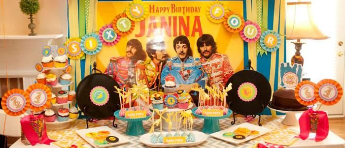 Karas Party Ideas Beatles When Im 64 Birthday