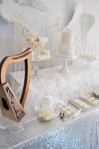 Angel Themed Baby Shower with Such Darling Ideas via Kara's Party Ideas | KarasPartyIdeas.com #Angels #Party #Ideas #Supplies (12)