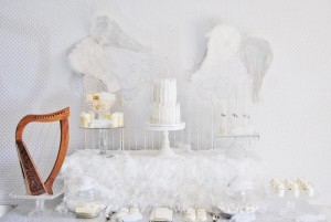 Angel Themed Baby Shower with Such Darling Ideas via Kara's Party Ideas | KarasPartyIdeas.com #Angels #Party #Ideas #Supplies (9)