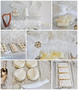 Angel Themed Baby Shower with Such Darling Ideas via Kara's Party Ideas | KarasPartyIdeas.com #Angels #Party #Ideas #Supplies (1)