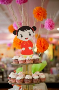 Modern Asian Themed 1st Birthday Party with Lots of Cute Ideas via Kara's Party Ideas | KarasPartyIdeas.com #Asian #Mulan #Party #Ideas #Supplies (3)