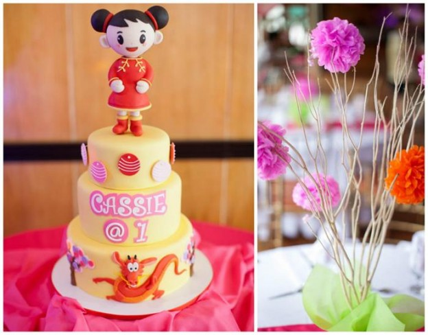 Modern Asian Themed 1st Birthday Party with Lots of Cute Ideas via Kara's Party Ideas | KarasPartyIdeas.com #Asian #Mulan #Party #Ideas #Supplies (1)
