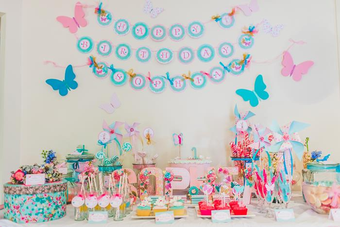 Kara S Party Ideas Butterfly Themed 1st Birthday Party
