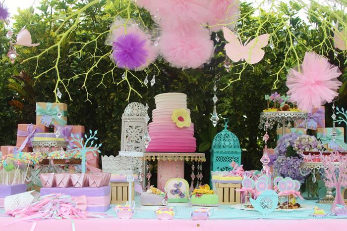 Kara 39 s party ideas pastel butterfly garden party with lots of cute ideas via kara 39 s party ideas - Gartenparty dekoration ...