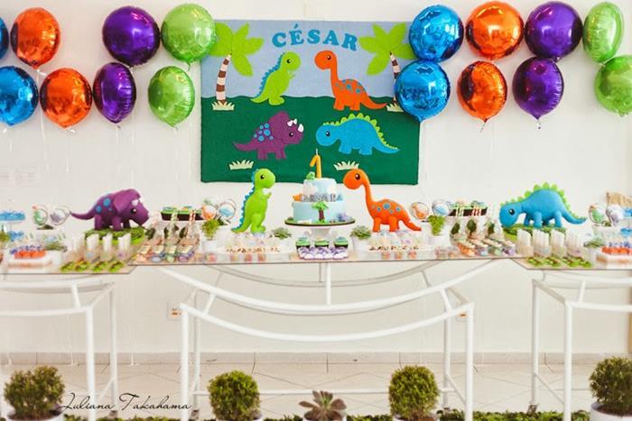 Karas Party Ideas Dinosaur Themed 1st Birthday Party with So Many