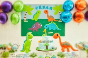 Dinosaur Themed 1st Birthday Party with Lots of Cute Ideas via Kara's Party Ideas | KarasPartyIdeas.com #DinosaurParty #Party #Ideas #Supplies (2)