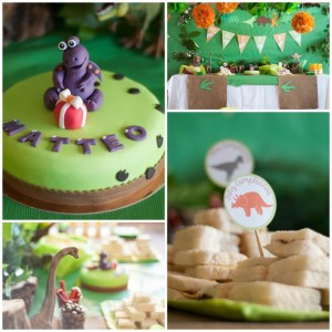 DinoDinosaur Themed 2nd Birthday Party with Lots of Cute Ideas via Kara's Party Ideas | KarasPartyIdeas.com #Dino #Party #Ideas #Supplies (1)