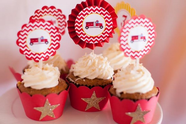 Fire Truck Themed Birthday Party with Lots of Really Cute Ideas via Kara's Party Ideas | KarasPartyIdeas.com #FiremanParty #FiretruckParty #PartyIdeas #Supplies (3)