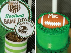 Football Themed 7th Birthday Party with Lots of Cute Ideas via Kara's Party Ideas | KarasPartyIdeas.com #SportsParty #SuperbowlParty #PartyIdeas #Supplies (21)