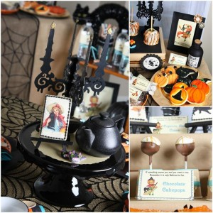 Vintage Halloween Party with Lots of REALLY CUTE IDEAS via Kara's Party Ideas | KarasPartyIdeas.com #HallowsEve #Party #Ideas #Supplies (39)