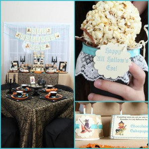 Vintage Halloween Party with Lots of REALLY CUTE IDEAS via Kara's Party Ideas | KarasPartyIdeas.com #HallowsEve #Party #Ideas #Supplies (38)
