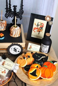 Vintage Halloween Party with Lots of REALLY CUTE IDEAS via Kara's Party Ideas | KarasPartyIdeas.com #HallowsEve #Party #Ideas #Supplies (27)