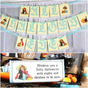 Vintage Halloween Party with Lots of REALLY CUTE IDEAS via Kara's Party Ideas | KarasPartyIdeas.com #HallowsEve #Party #Ideas #Supplies (44)