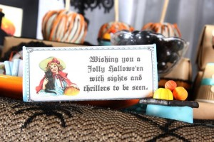 Vintage Halloween Party with Lots of REALLY CUTE IDEAS via Kara's Party Ideas | KarasPartyIdeas.com #HallowsEve #Party #Ideas #Supplies (23)